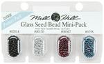 02014, 00150, 00367 & 00358 - Mill Hill Glass Seed Beads Mini Packs 830mg 4/Pkg