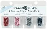 02012, 00553, 00283 & 00081 - Mill Hill Glass Seed Beads Mini Packs 830mg 4/Pkg