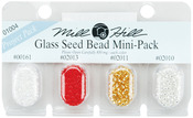 00161, 02013, 02011 & 02010 - Mill Hill Glass Seed Beads Mini Packs 830mg 4/Pkg