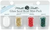 00479, 00557, 00968 & 00332 - Mill Hill Glass Seed Beads Mini Packs 830mg 4/Pkg