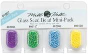 02086, 00167, 02006 & 00128 - Mill Hill Glass Seed Beads Mini Packs 830mg 4/Pkg