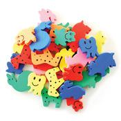 Animal Pals 30/Pkg - Krafty Kids: Fun Foam Assorted Animal Beads 6mm
