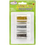 Gold/Silver/Multi - Glitter Shaker Jars 3x7g Assortment W/Screw-Top