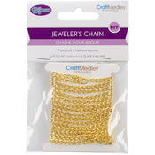 Gold - Linked Chain 1.5m 3mmx2.5mm Twist Link