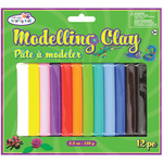 12 Colors - Modeling Clay 150 Grams/Pkg