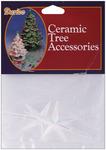 "Iridescent - Ceramic Christmas Tree Star 2.75""X1.875"" 2/Pkg"