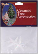 "Iridescent - Ceramic Christmas Tree Star 2.75""X1.875"" 2/Pkg"