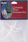 "Iridescent - Ceramic Christmas Tree Star 3.875""X2.625"" 2/Pkg"