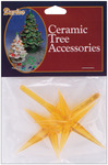 "Gold - Ceramic Christmas Tree Star 3.875""X2.625"" 2/Pkg"