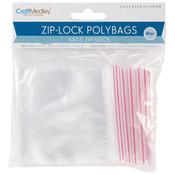 """Zip - Lock Polybags 3""""X3"""" 60/Pkg-"""