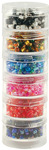 """Bead Storage Screw Stack Cannisters 1.5""""X.75"""" 6/Pkg"""