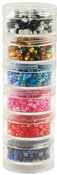 "Bead Storage Screw Stack Cannisters 1.5""X.75"" 6/Pkg"