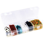 "Organizer Box W/Lid And 6 Dividers 6.75""X2.25""X1.1875"""