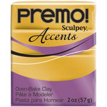 18K Gold - Premo Accents Sculpey Polymer Clay 2oz