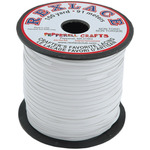 """White - Rexlace Plastic Lacing .0938"""" Wide 100yd Spool"""