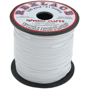 "White - Rexlace Plastic Lacing .0938"" Wide 100yd Spool"