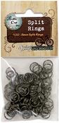Black - Vintage Collection Split Rings 8mm 100/Pkg