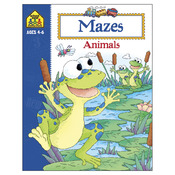 Mazes Animals Ages 4-6 - Activity Workbooks 32 Pages