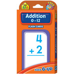 Addition 0-12 55/Pkg - Flash Cards