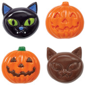 6 Cavity Cat/Pumpkin - Candy Mold