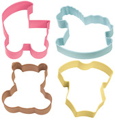 Baby Theme - Metal Cookie Cutter Set 4/Pkg