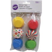 Multicolor - Mini Baking Cups 150/Pkg
