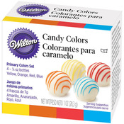 Yellow, Orange, Red & Blue - Candy Colors .25oz 4/Pkg