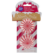 North Pole 100/Pkg - Mini Baking Cups