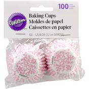 Mini Baking Cups - Pink Damask 100/Pkg