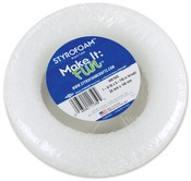 "White - Styrofoam Wreath 5.875""X1.1875"" 1/Pkg"