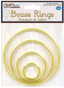 "Brass Rings 4/Pkg, 1 Each of 1"", 2"", 3"" and 4"""