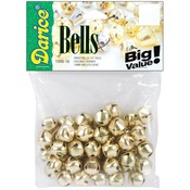 "Gold - Jingle Bells .5"" 48/Pkg"