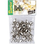 "Silver - Jingle Bells .75"" 30/Pkg"