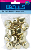 "Gold - Jingle Bells 1"" 18/Pkg"