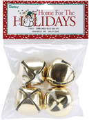 "Gold - Jingle Bells 1.375"" 4/Pkg"