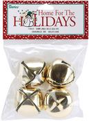 "Gold - Jingle Bells 1.375"" 4/Pkg"