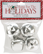 "Silver - Jingle Bells 1.375"" 4/Pkg"