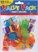 Sports Whistles - Party Favors 12/Pkg