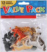 Jungle Animals - Party Favors 12/Pkg