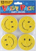 Smile Maze Puzzles - Party Favors 12/Pkg