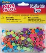 Black on Neon - Paste-On Wiggle Eyes 7mm 220/Pkg