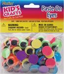 Black on Neon - Paste-On Wiggle Eyes 15mm 80/Pkg