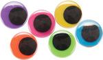Black on Neon - Paste-On Wiggle Eyes 20mm 50/Pkg