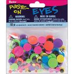 Black on Neon - Paste-On Wiggle Eyes Assorted 160/Pkg