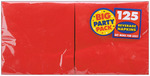"""Apple Red - Big Party Pack Beverage Napkins 5""""X5"""" 125/Pkg"""