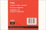 "Ruled White - Index Cards 4""X6"" 100/Pkg"