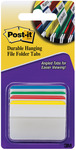 """Post - It Durable Hanging File Folder Tabs 2""""X1.5"""" 24/Pkg - Assorted Primary Col"""