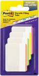 """Assorted Neon Colors - Post-It Durable Filing Tabs 2""""X1.5"""" 24/Pkg"""