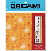 "Origami Paper 5.875""X5.875"" 40 Sheets - Leaves Chiyogami"