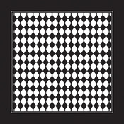 "Black/White Diamond - Domestic Bandanna 22""X22"""
